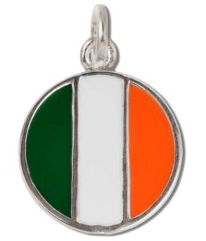 IRELAND ENAMEL ROUND FLAG CHAR