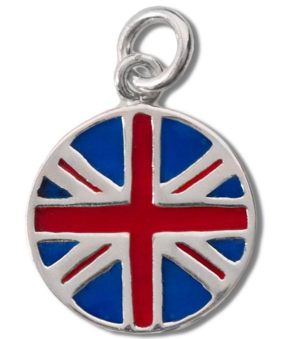 UNITED KINGDOM ENAMEL RND FLAG