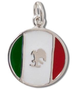MEXICO ENAMEL ROUND FLAG