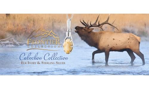 Cabochon Cut Elk Ivory