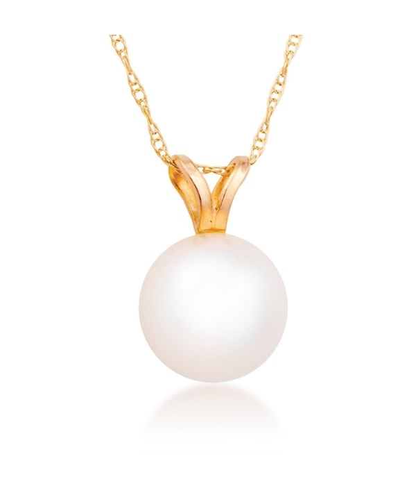 8mm pearl 14KY pendant