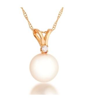 6mm pearl diam 14KY pendant