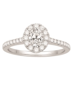 .89 CTTW 1/2 CT CENTER OVAL ENGAGEMENT