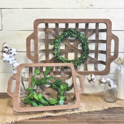 Set Of 2 Rectangular Tobacco Baskets