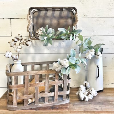 Toabcco Basket Set With Rope Handles
