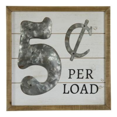 5 Cents Per Load Sign