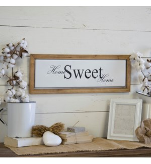 "Wood And Metal Sign ""Home Sweet"""