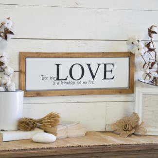 """Wood And Metal Sign """"True Love"""""""
