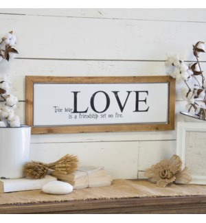 "Wood And Metal Sign ""True Love"""