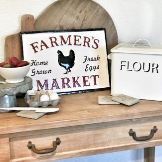 Embossed Metal Farmer'S Market Sign