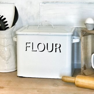 Vintage Enamelware Flour Container