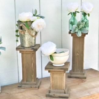 Pillar Candle Stands Set Of 3