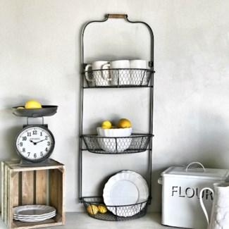 3 Tier Wall Mounted Fruit Basket