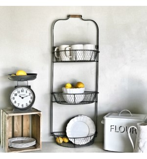 3 Tier Wall Mounted Fruit Basket