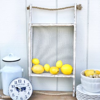 Replica White Wood Sifter With Rope Handles