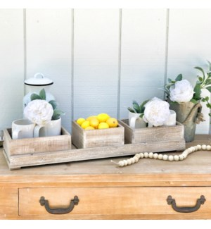 Sliding Wood Display Crates