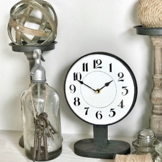 Table Top Clock On Stand
