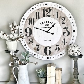 """Distressed """"Antiques"""" Wall Clock"""