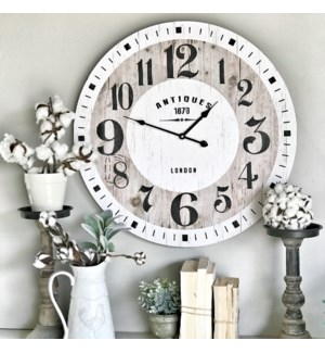 "Distressed ""Antiques"" Wall Clock"