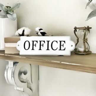 Enamel Office Door Plaque