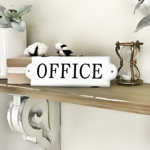 Enamel Office Door Plaque