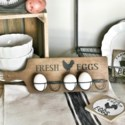 Wood Wall Hanging Egg Holder