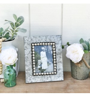 Galvanized 4X6 Frame With Pearl Accents