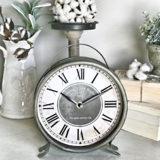 Large Metal Table Clock