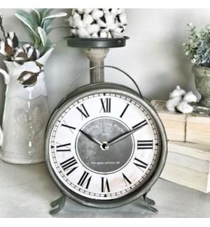 Large Metal Table Clock