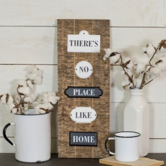 No Place Like Home Enamel Signs On Wood