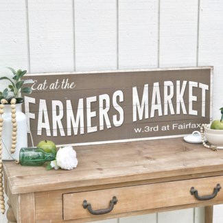 "Antique Wood ""Farmers Market"" Sign"