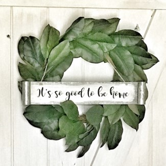 Painted Metal Scroll Sign