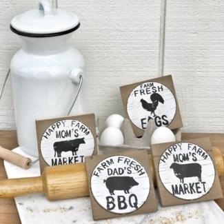 Farm Animal Coaster Set Of 4