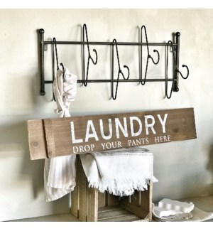 """Painted Wood """"Laundry"""" Sign"""