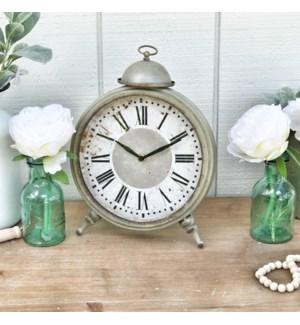 Metal Framed Vintage Faux Alarm Clock