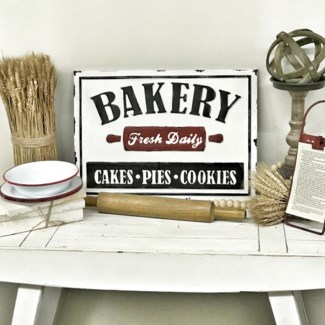 Beveled Metal Bakery Sign