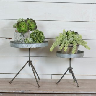 Set Of Two Metal Stands