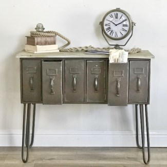 Antique File Cabinet Style Hall Table