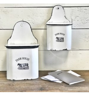 Farmhouse Enamel  Wall  Containers