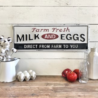 Farm Fresh Milk And Eggs