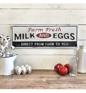 Farm Fresh Milk And Eggs