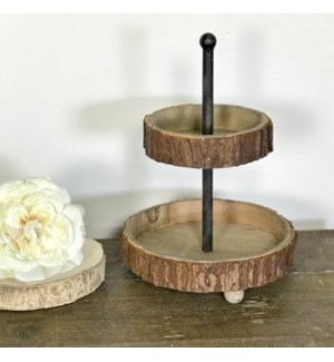 Wood Tiered Tray