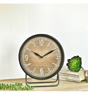 Wood and Metal Table Top Clock