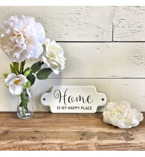 Home is my Happy Place Enamel Small Sign