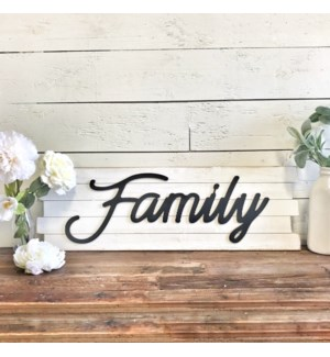 Wood Shiplap Family Sign