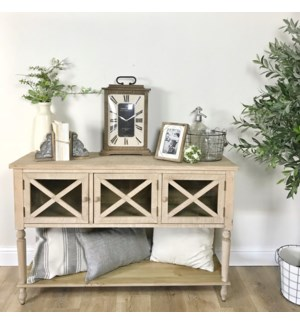 Farmhouse Entry Table with Glass Front Doors