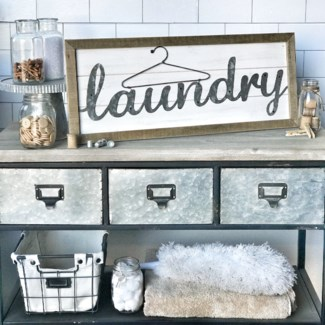 Shiplap Laundry Sign