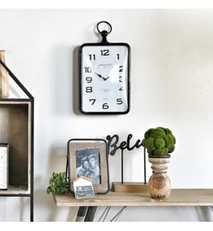 Black and White Rectangular Clock