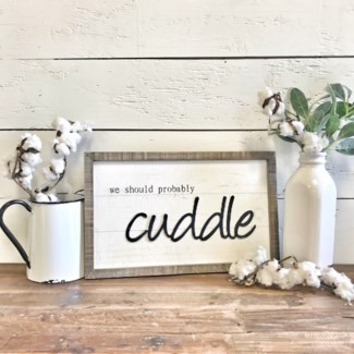 Small Cuddle Sign