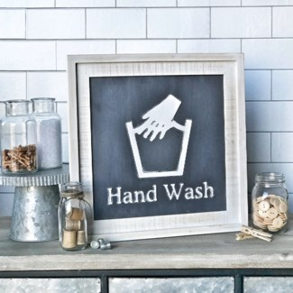 Hang Wash Laundry Sign
